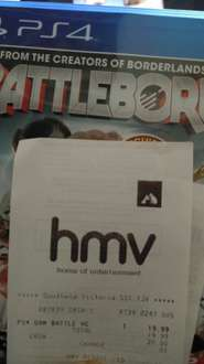 Battleborn PS4 at HMV in-store only £19.99