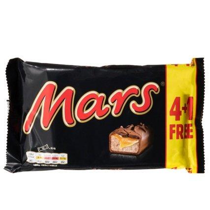 Mars 5pk ( 4+ 1Free) 39.4g £1.00 @ B&M