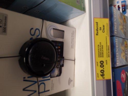 Tesco- Seagate wireless plus 1TB hard drive £60 instore