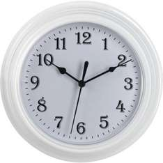 Simple Value White Wall Clock (Lowest Ever Price) £2 @ Argos Free C&C