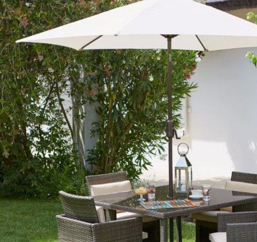 Mali 8 Seater Transformer Cube Rattan Effect Garden Furniture Set - Home Delivery - £249.96 Homebase
