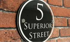 Superior Platinum personalised handmade house sign £5.99 with code delivered @ Groupon (UK Signs)
