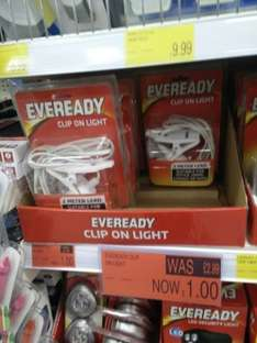ever ready clip on light £1 @ b&m