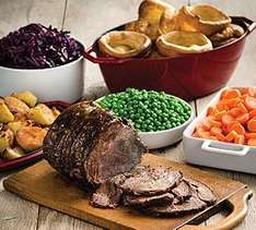 Roast Carvery £4.01 with 33% off voucher  + possible 10% Quidco + further 15% discount for Nationwide & Lloyds cardholders @ Toby Carvery