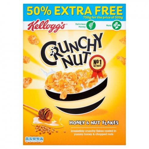 Kellogg's Crunchy Nut Honey & Nut Flakes (500g + 50% Free = 750g) ONLY £2.69 @ Iceland