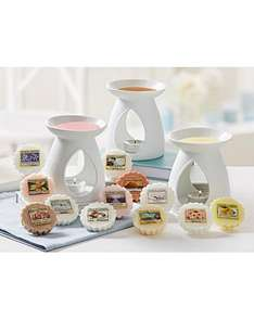 Yankee Candle 3 x Melt Warmers and 12 Assorted Melts for just £20 @ JD Williams plus 20% off first order!