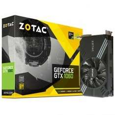 ZOTAC GeForce GTX 1060 Mini 6144MB GDDR5 PCI-Express Graphics Card at Overclockers for £229.99 delivered