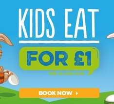 It's Back! Kids eat for £1 with purchase of an Adult main meal @ Harvester