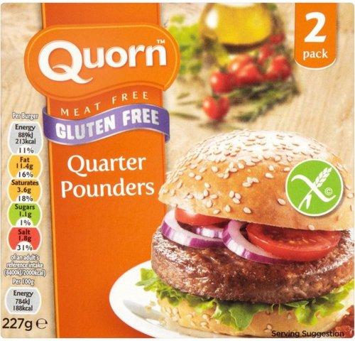 Quorn (gluten free) quarter pounders (Pack of 2 = 227g) was £2.59 now 2 Packs for £3.00 @ Waitrose