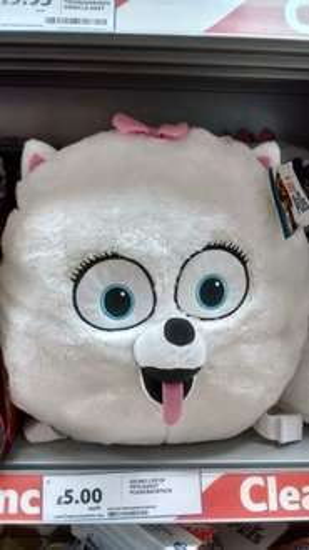 Secret Life Of Pets Plush Gidgit Backpack, was £20 now £5 instore @ Tesco