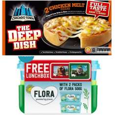 Chicago Town The Deep Dish Pizza (2 Pack) £1 at Iceland, 2x Flora Light Butter 500g with free lunch box £3 at Iceland