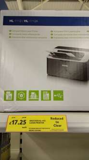 Brother HL-1112 Laser Printer £17.25 Tesco instore (Newtownbreda)
