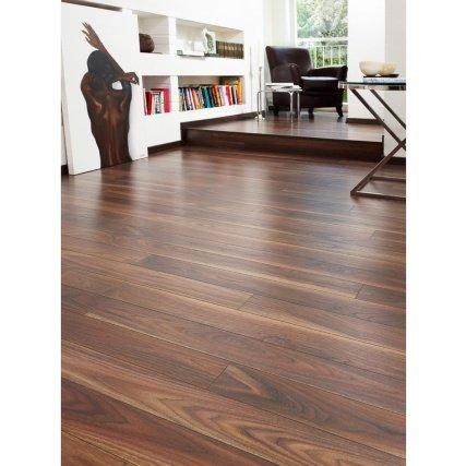 Walnut effect laminated flooring £14.80 a pack 2.47sqm B&M retail
