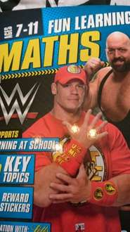 wwe fun maths learning for 7-11 year olds with sticker home bargains