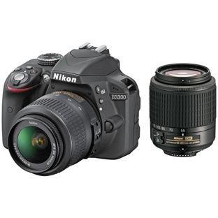 Nikon D3300 DSLR Camera with 18-55mm & 55-200mm Lens £379.99 @ Argos