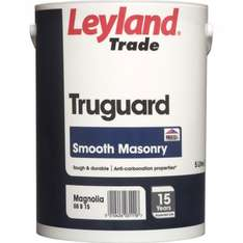 Leyland Trade Truguard Smooth Masonry Paint Brilliant White & Magnolia 5L £16.13 @ Toolstation