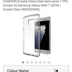 Spigen Note 7 Crystal Clear Case £5.99 Prime or £9.98 non prime Sold by Spigen UK Store and Fulfilled by Amazon.