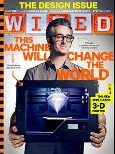 3 Issues of Print and Digital of Wired Magazines for £1