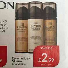 Revlon Airbrush mousse foundation , £2.99 at TJ Hughes instore . Boots price is £12.99