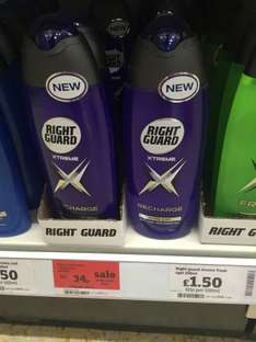 Right Guard Recharge shower gel 34p at Sainsburys Basingstoke