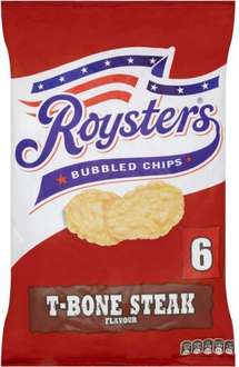 Roysters Bubbled Chips - T- Bone Steak (6 x 28g) was £1.00 now 2 for £1.50 @ Iceland