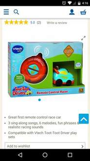 VTECH baby toot toot drivers Remote control car £6.50 @ Tesco In store Bournemouth