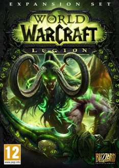 World of Warcraft - Legion PC/Mac expansion pack £23.99 (£22.79 ish with cdkeys 5% fbook code )
