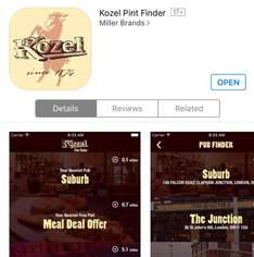 Free Lager! 2 Free Pints of Kozel! Just download the app and get drinking!