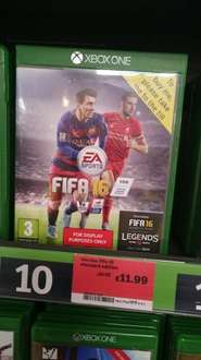 fifa 16 xbox one £11.99 @ sainsburys in store