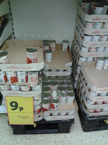 Tesco Everyday Value Tinned Tomatoes 9p At Tesco Clapham