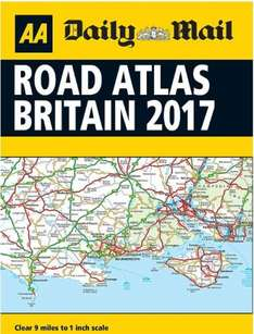 AA Road Atlas Great Britain - A4 size 2017 Edition - Inside Daily Mail Saturday (90p)