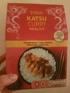 tesco chicken katsu curry kit instore at Tesco for 62p