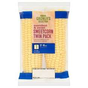 ASDA Grower's Selection Sweetcorn Twin Pack - 79p