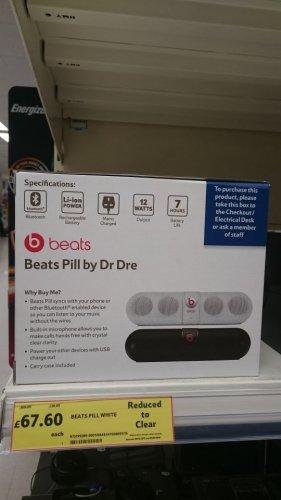 tesco Beats pill white 2.0 instore at Tesco for £67.60