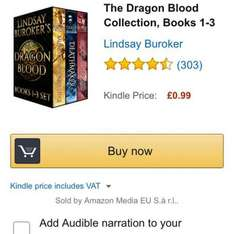 dragon blood book collection at Amazon for 99p