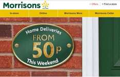 Morrison's 0.50p Delivery This Weekend Sat 6th & Sun 7th