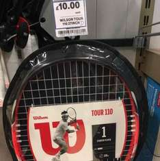 Wilson Tour 110 Tennis rackets reduced £10 Tesco in store only