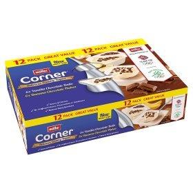 Muller Crunch Corner Vanilla Chocolate Balls & Banana Chocolate Flakes Yogurts (12 pack x 135g) ONLY £3.00 @ Asda