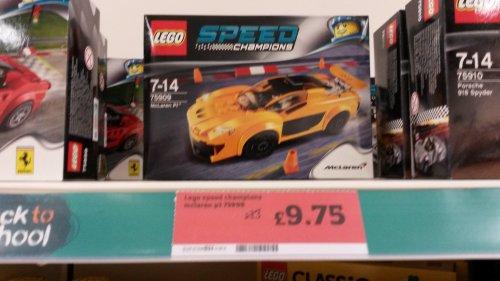 Lego speed champions Mclaren 75909 £9.75 In store @ Sainsbury's Swindon