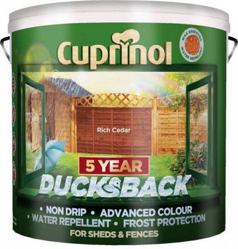 Cuprinol 5 Year Ducksback Forest Oak / Forest Green Shed & Fence Treatment (9L) was £24.00 now £16.00 @ B & Q