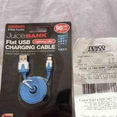 Flat USB Charging Cable for IPhone £1 in store @ Tesco