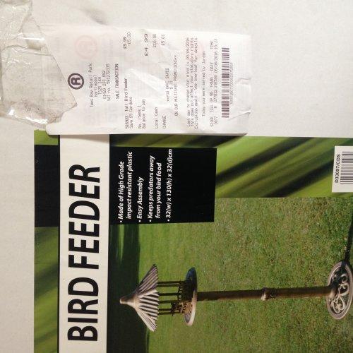 PRICE SCAN GLITCH BIRD FEEDER WAS £24.99 NOW £4.99!! @ The Range