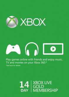 14 Day Xbox Live Gold Trial Membership (Xbox One/360) £1.59 at CD Keys