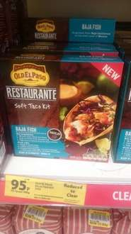 Old el paso taco kit baja fish now 95p instore at Tesco
