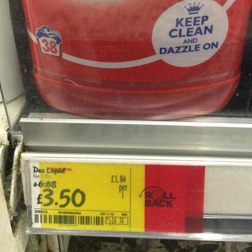 DAZ 38 washes only £3.50 at Asda Carlisle