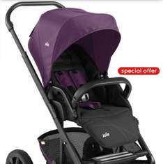 FREE Joie Gemm Infant Car Seat- Carbon Black and a Joie Chrome Carrycot – Damson when you buy the Joie Chrome Black Chassis Pushchair – Damson £219.99 @ Mothercare