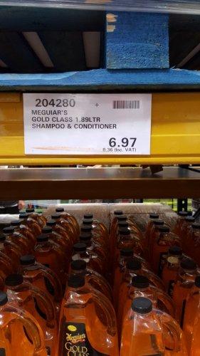 Meguiars Gold Class Car Shampoo 1.89lt £8.36 @ Costco Trafford Park