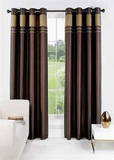 Charlotte Faux Silk Fully Lined Eyelet Curtains [46x54=£5/66x72=£12] @ matalan + 3.95pp