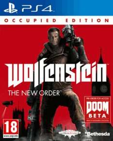 Wolfenstein The New Order Occupied Edition PS4 £9.99 @ GAME
