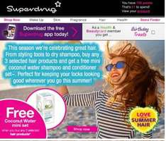 FREE coconut water mini set when buying 3 selected products from Superdrug